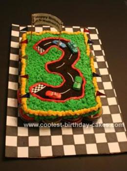 Homemade Cars Cake