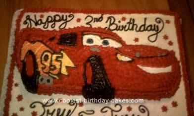 Homemade Cars Disney Birthday Cake
