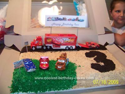 Homemade Cars Ice Cream Birthday Cake
