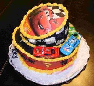 Homemade Cars Mad Hatter Cake