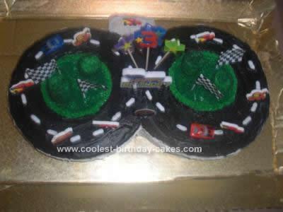 Homemade Cars Race Track Cake