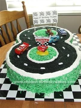 Homemade Cars Racetrack Birthday Cake