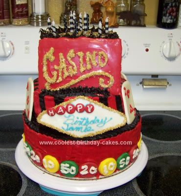 Homemade Casino Birthday Cake