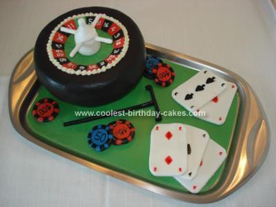 Homemade Casino Cake
