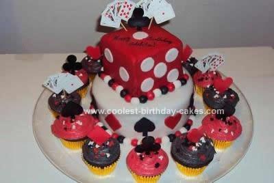 Homemade Casino Party Cake