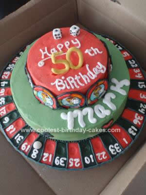 Fine Coolest Casino Roulette Cake Personalised Birthday Cards Arneslily Jamesorg