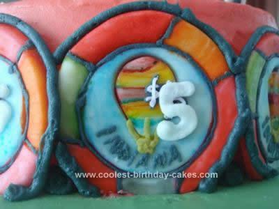 Homemade Casino Roulette Cake