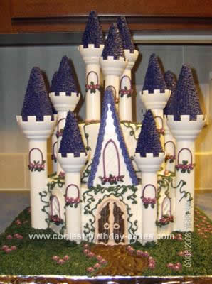Homemade Castle Birthday Cake Design