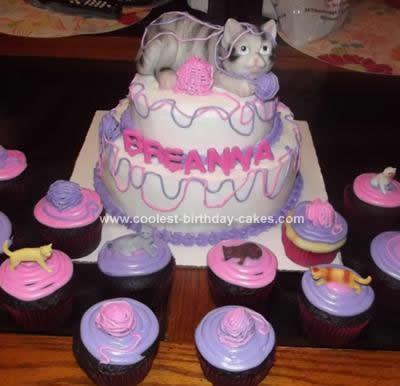 Homemade Cat Birthday Cake
