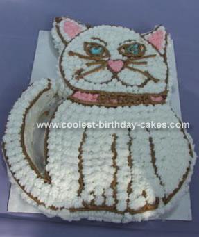 White Cat Cake