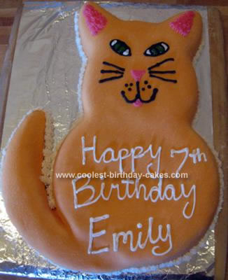 Homemade Cat Cake