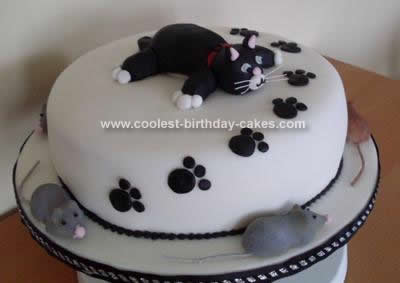 Homemade Cat Cake Design