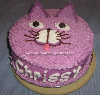 Homemade  Cat Face Cake