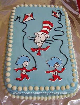 Stupendous Coolest Cat In The Hat Birthday Cake Personalised Birthday Cards Veneteletsinfo