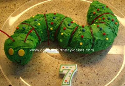 Homemade Caterpillar Birthday Cake
