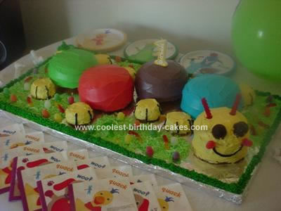 Homemade Caterpillar Cake from Baby Einstein