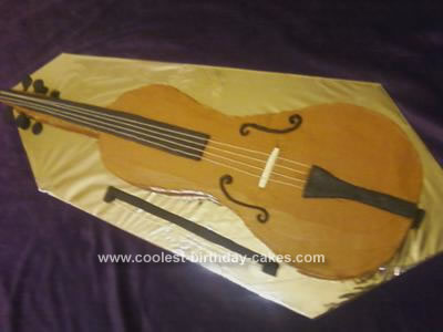 Homemade Cello Birthday Cake