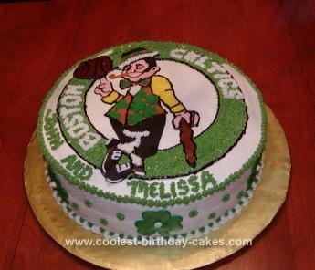 Homemade Celtics Cake