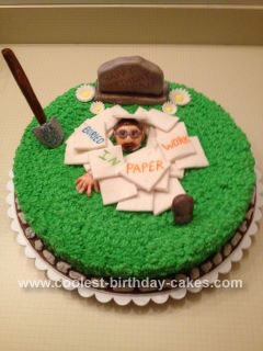 Homemade Cemetery Worker Birthday Cake