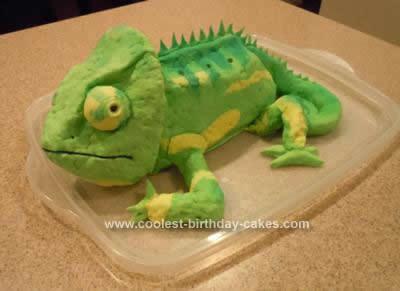 Homemade Chameleon Cake