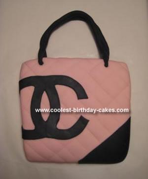 Homemade Chanel Purse Cake