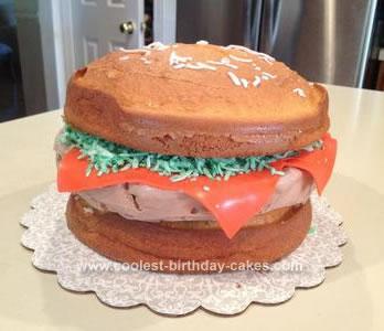 Coolest Cheddar Cheeseburger Frozen Yogurt Birthday Cake
