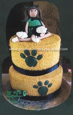 Homemade Cheerleader Cake