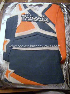 Homemade Cheerleading Cake