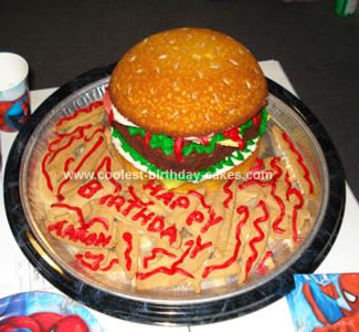 Homemade Cheeseburger Cake