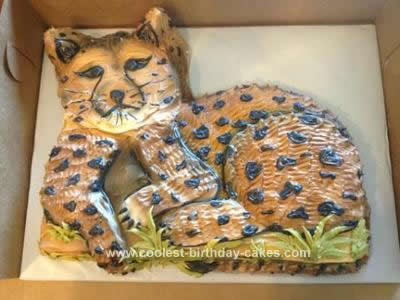 Homemade Cheetah Birthday Cake
