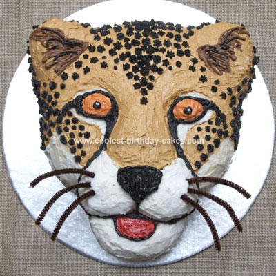 Homemade Cheetah Cake from Africa
