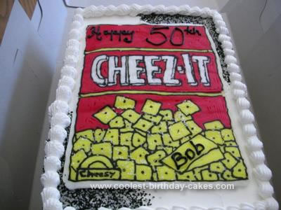 Homemade Cheeze-it Birthday Cake
