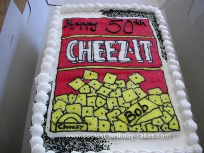 Homemade Cheeze-it Birthday Cake