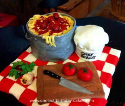 Homemade Chef Birthday Cake