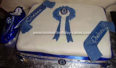 Homemade Chelsea Football Cake