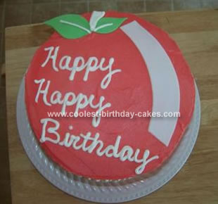 Homemade Cherry Birthday Cake