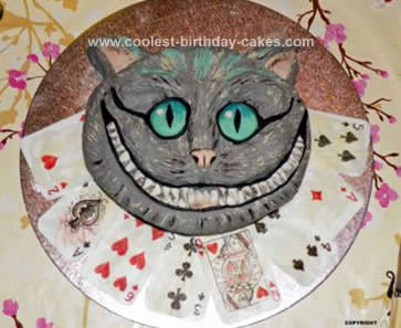 Coolest Cheshire Cat Birthday Cake