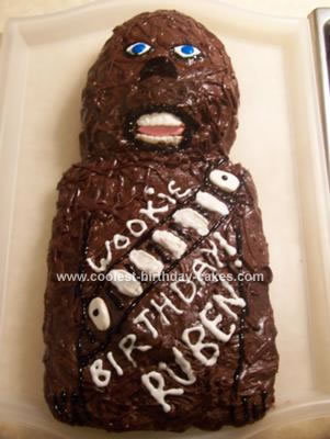 Homemade Chewbacca Birthday Cake