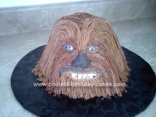 Homemade Chewbacca Cake
