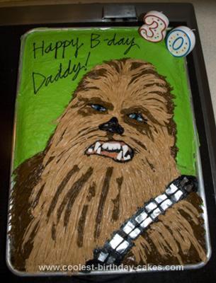 Homemade Chewbacca Cake