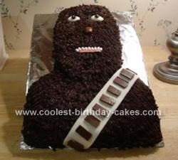 Homemade Chewbacca Cake Design