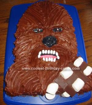coolest chewbacca star wars cake