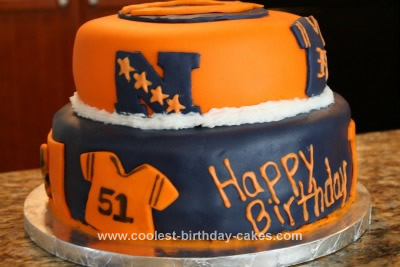 Superb Coolest Chicago Bears Cake Personalised Birthday Cards Petedlily Jamesorg