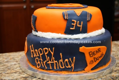 Excellent Coolest Chicago Bears Cake Personalised Birthday Cards Sponlily Jamesorg