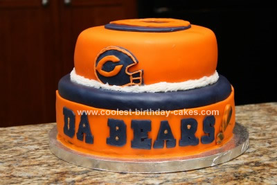 Brilliant Coolest Chicago Bears Cake Personalised Birthday Cards Petedlily Jamesorg