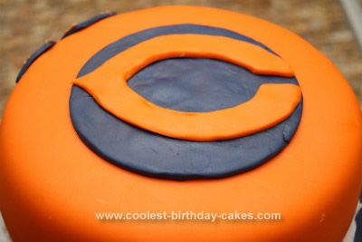 Homemade Chicago Bears Cake