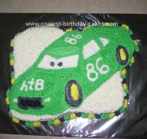 Homemade Chick Hicks Birthday Cake