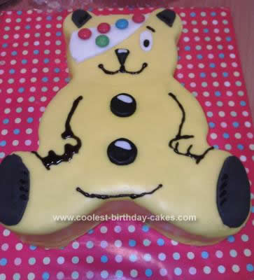 Homemade Children in Need Pudsey Cake