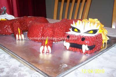 Homemade Chinese Dragon Birthday Cake
