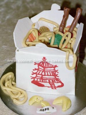 Chinese Takeout Box Cake